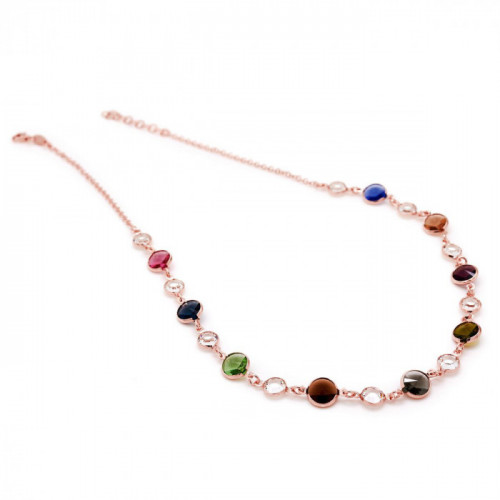 Pink Gold Necklace Basic rigid