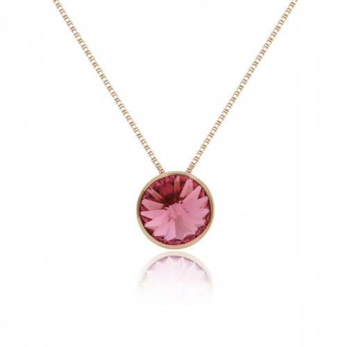 Pink Gold Necklace Basic S