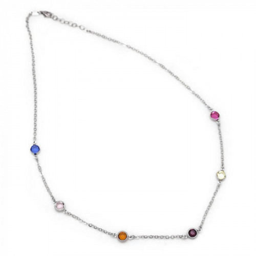 Silver Necklace Basic multicolor