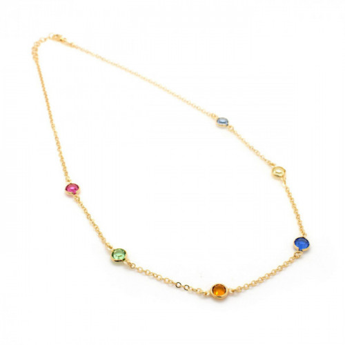 Gold Necklace Basic multicolor