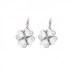 Silver Earrings Cuore Clover