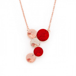 Pink Gold Necklace Combination multicrystal