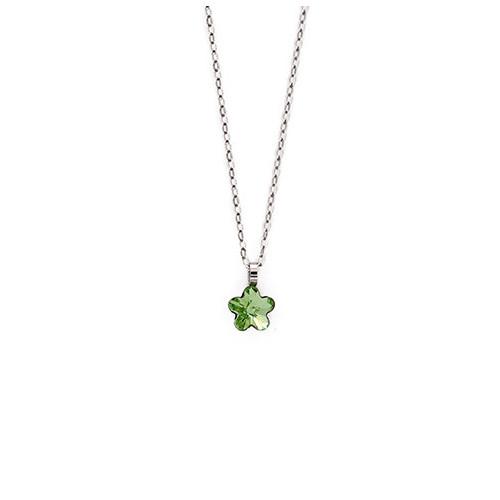 Silver Necklace Little Flower